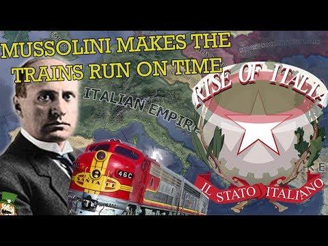 Hearts of Iron 4: Rise of Italia - MUSSOLINI MAKES THE TRAINS RUN ON TIME