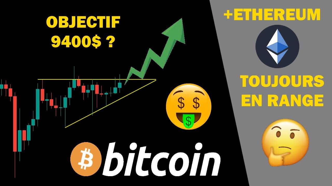 BITCOIN CORRECTION OBJECTIF 9400$ AVANT LA GRANDE CHUTE ?! + ETHEREUM RANGE ! analyse crypto monnaie