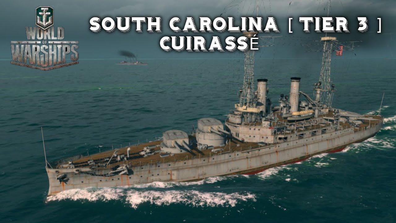 World of warships south carolina cuirasse tier 3 youtube for R kitchen south carolina