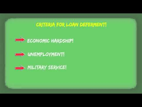 The Criteria Used By The Lenders For Granting A Loan Deferment, LoansMate!