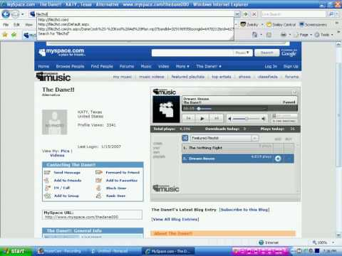 how to take music from myspace and add it to your music library