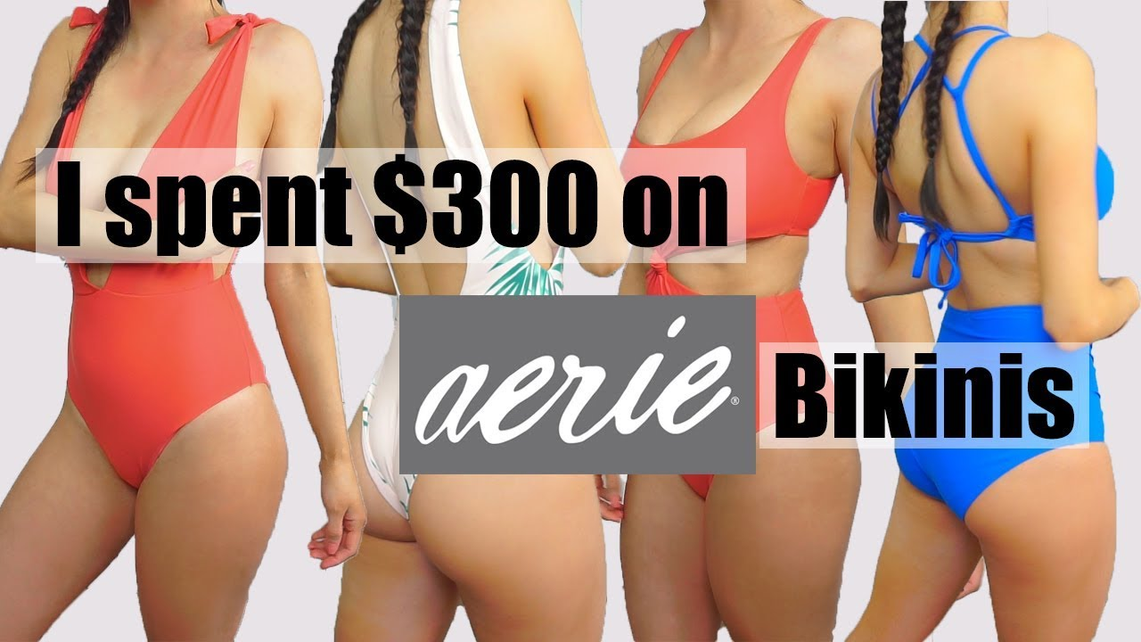 1a6a2d0d965bc What was I thinking ! Aerie Swim 2018 Try on Bikini Haul
