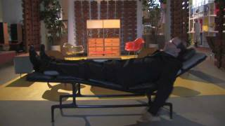 Daniel Ostroff Demonstrates The Proper Use Of The Eames Chaise