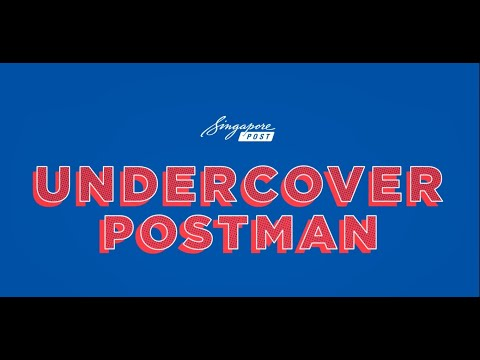 Undercover Postman With CEO Of Postal Services And Singapore - Vincent Phang