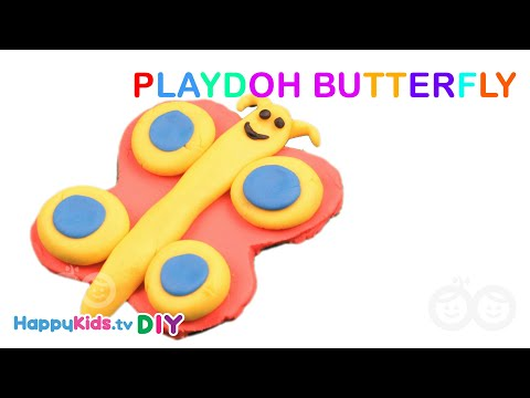 Playdoh Butterfly | Paper Crafts | Kid's Crafts And Activities | Happykids DIY