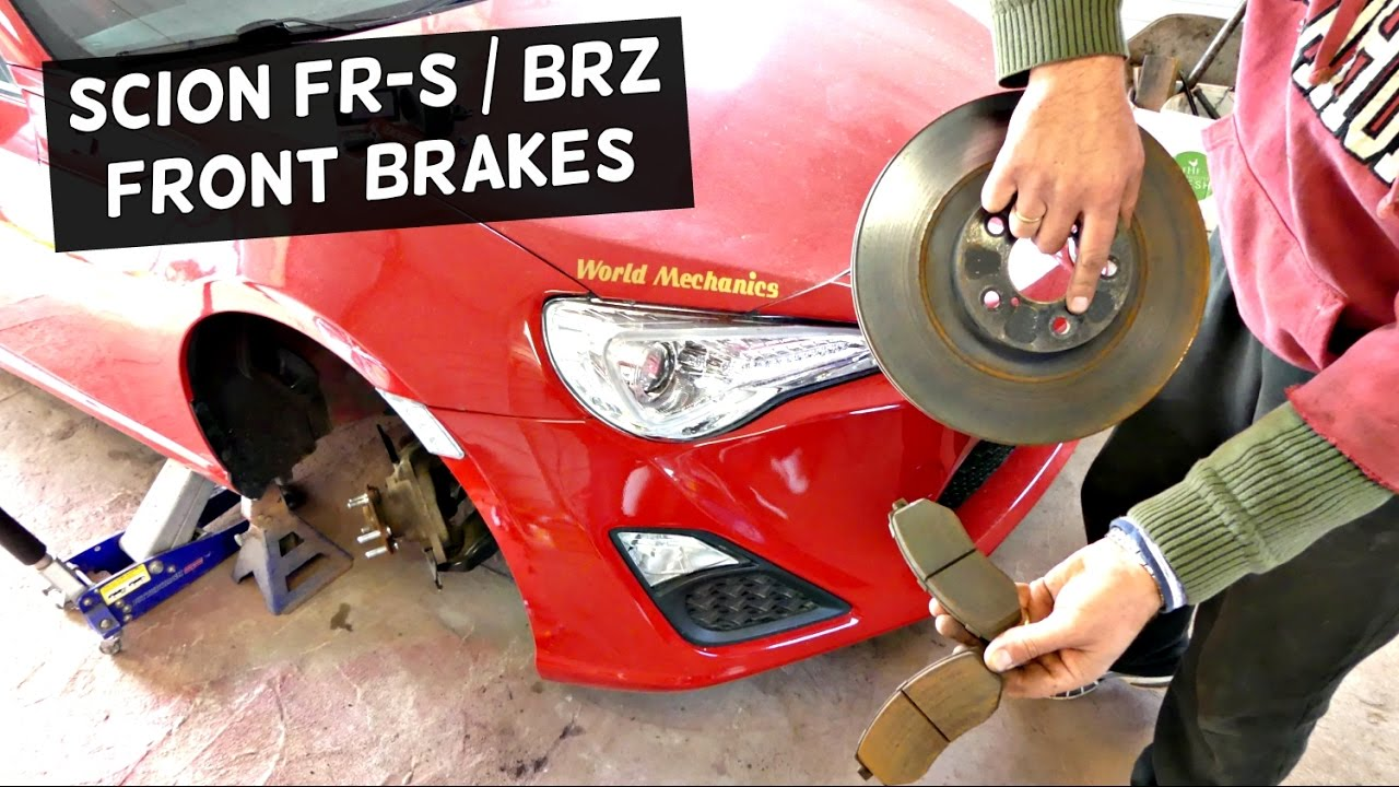 Frs Brake Pads >> How To Replace Front Brake Pads And Disc Rotors On Scion Frs Fr S Subaru Brz