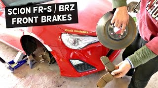How to replace front brake pads and disc rotors on SCION FRS FR-S SUBARU BRZ