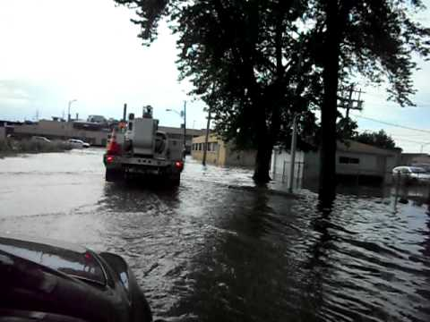 Flooding in Maywood, Illinois