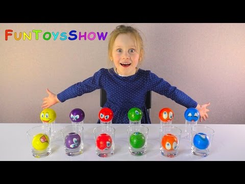 Thumbnail: Learn Colors with Squishy Stress Balls Smiley Fun Faces for Children and Toddlers