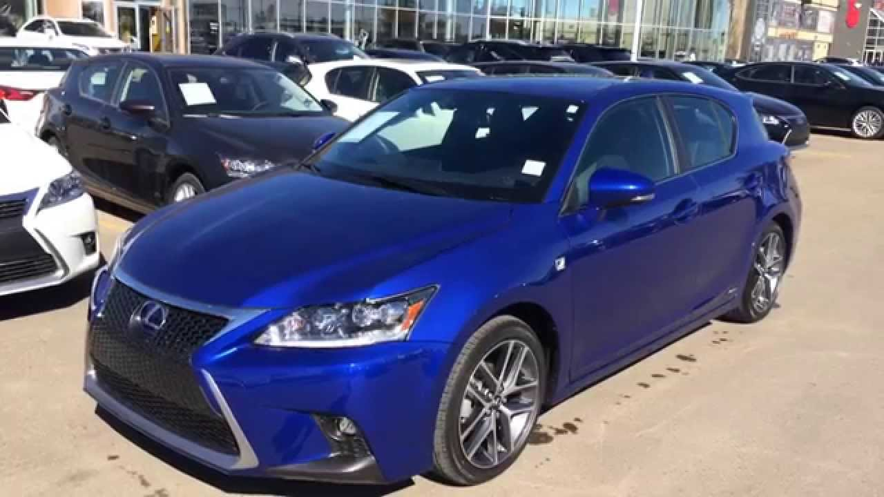 2014 lexus ct 200h hybrid ultrasonic blue f sport package review edmonton youtube. Black Bedroom Furniture Sets. Home Design Ideas