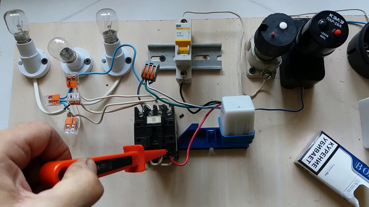 Схема уличного освещения фотореле пускателем фото 494