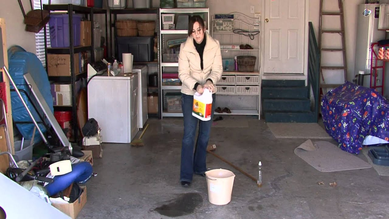 House cleaning stain removal tips on cleaning garage for Garage floor maintenance