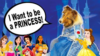 'I Wanna be a PRINCESS!'  a Disney Princess Biscuit Talky on Cricket 'the sheltie' Chronicles