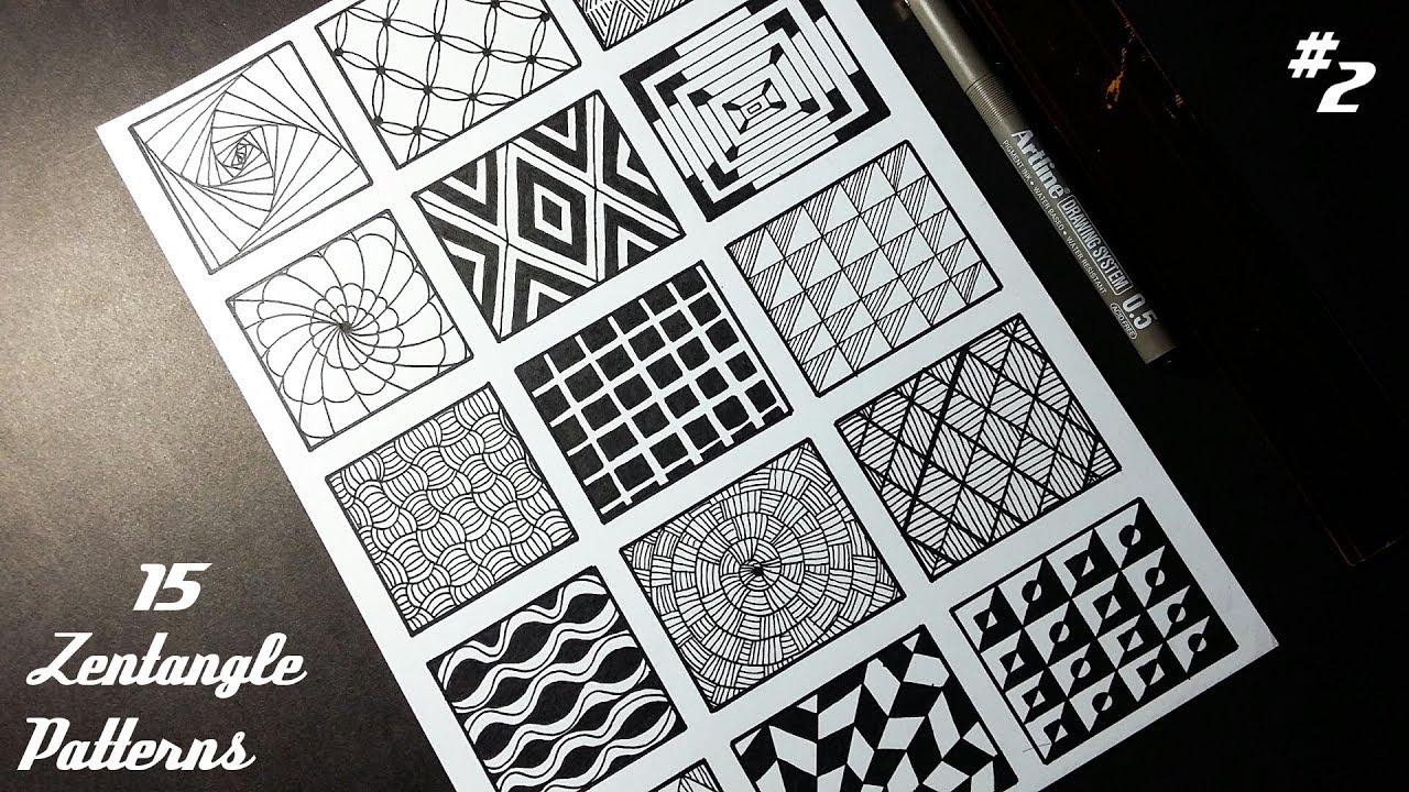 15 Zentangle Patterns | Part 2 | Doodle Art | Angga Art Tutorials