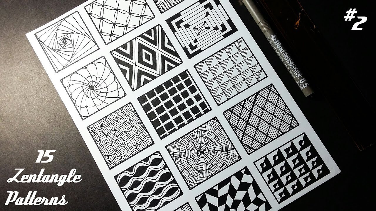 photo relating to Printable Zentangle Patterns called Zentangle Artwork Routines