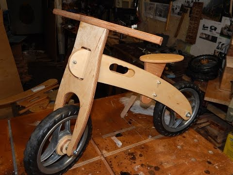 Balance bike from plywood. How to make. DIY.