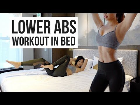 BEST 10 min Lower Ab Workout IN BED to Burn Belly Fat! Emi