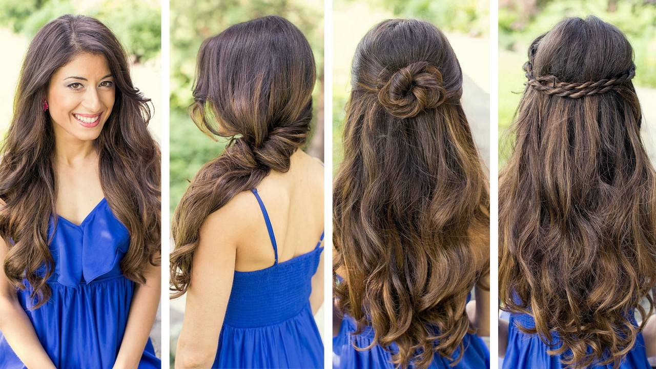 simple hairstyles daily for college - youtube