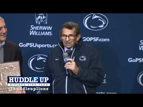 Joe Paterno Honored for 409th win passing Eddie Robinson
