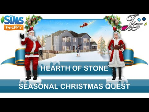 Sims FreePlay 🎄| SEASONAL CHRISTMAS QUEST | HEARTH OF STONE |🤶🏼 (Early Access) 🔑