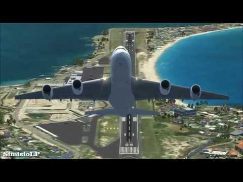 [✈FSX] Air France Airbus A380 - Vertical Takeoff from St. Maarten [HD]