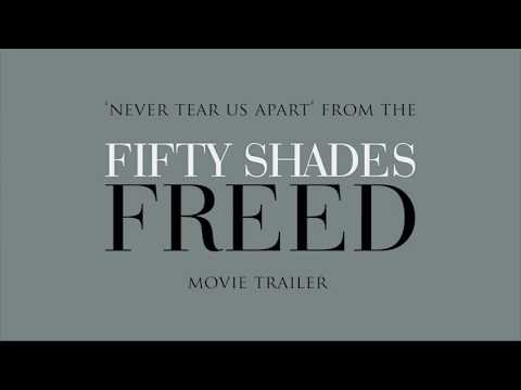 Fifty Shades Of Grey - Freed Trailer Music: Never Tear Us Apart | Lyric Video