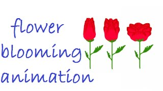 flower blooming animation tutorial in flash
