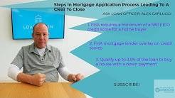 Steps In Mortgage Application Process Leading To A Clear To Close
