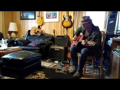 Ovation acoustic thru Mesa Boogie F30 amp 1st clean then crazy mean