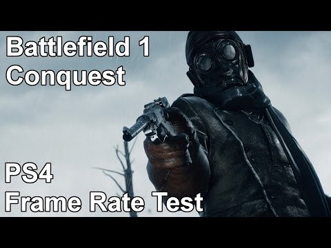 Battlefield 1 Conquest PS4 Frame Rate Test