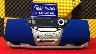 Siêu rẻ 950k - Boombox Sharp F11 - hoạt động hoàn hảo - LH 036.6543.886