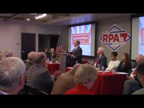 Republican Party Chair Doyle Webb introduces Arkansas Governor Asa Hutchinson
