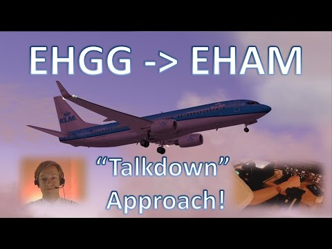 "Mini-VATSIM Flight: SRA ""Talkdown"" Approach! Groningen to Amsterdam - FULL ATC!"