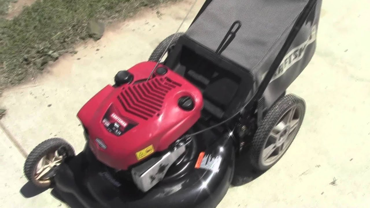 Craftsman Model 917 Push Mower : Craftsman readystart push mower youtube