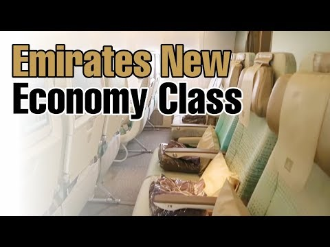 Emirates New Economy Class - Walk Through, Stansted Airport