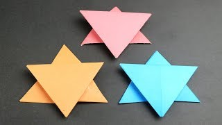 Origami Star: How to make a star with paper -Christmas Star