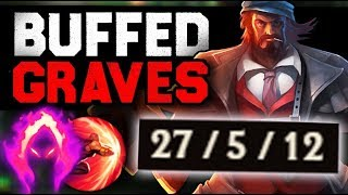 RIOT HAS MADE THE BIGGEST MISTAKE EVER BUFFED GRAVES  DARK HARVEST  1v9 CARRY EVERY GAME