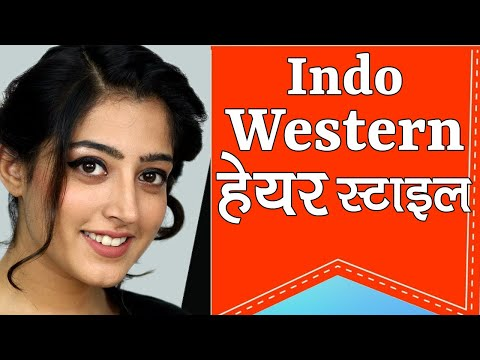 Hairstyle for Indo Western Dress