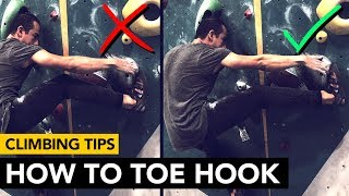 Rock Climbing Tips: Do this to IMPROVE your Toe Hooks