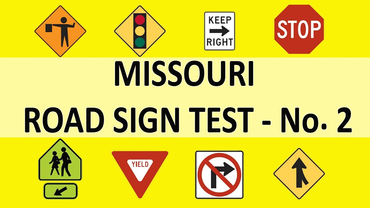 drivers test road signs missouri