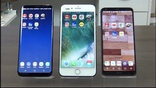 INTERACTIVO Galaxy S8 versus iPhone 7 Plus versus LG G6 TU DECIDES!