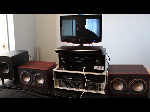 Home theater steup Bi-amplify Front L & R speakers