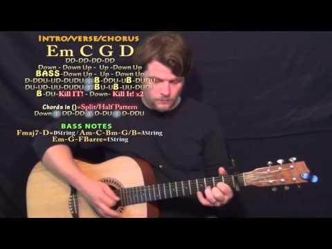 El Perdon (Nicky Jam) Guitar Lesson Chord Chart - Capo 1st