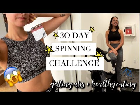 I DID 5 SPIN CLASSES A WEEK FOR A MONTH & THIS HAPPENED... | 30 Day Fitness Challenge (+printable)