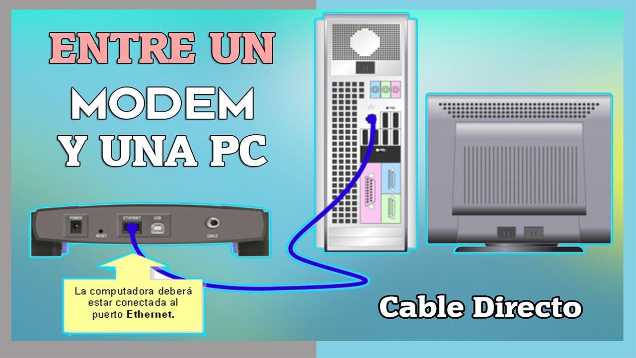 Armar Cable De Red Entre Un Modem Y Una Pc Cable Directo Cruzado Youtube