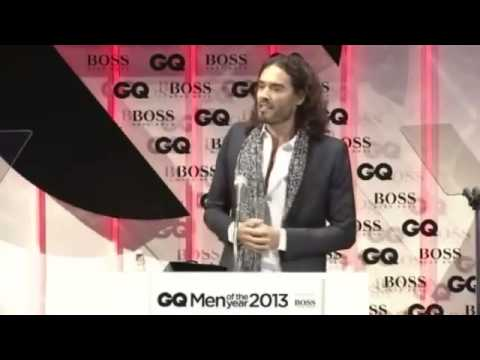 Russell Brand's impressive acceptance speech at the GQ Awards 2013