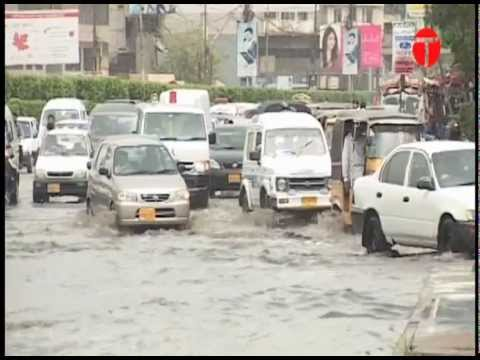 Heavy showers in Lower Sind, including Hyderabad and Karachi.