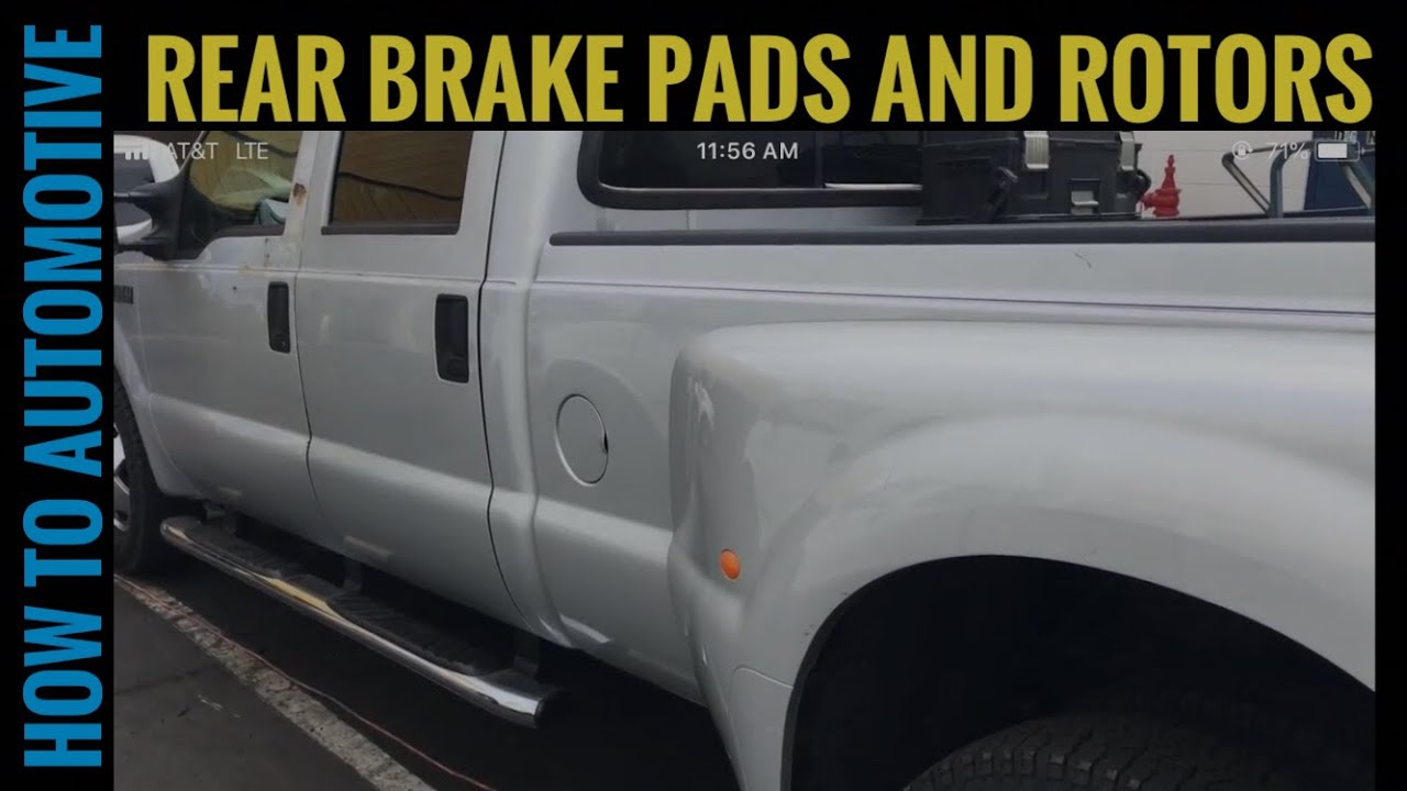 How to Replace the Rear Brake Pads and Rotors on a 2002 Ford F 350 Dually