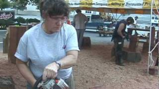 Learn How to Chainsaw Carve with Steve Backus and Bailey