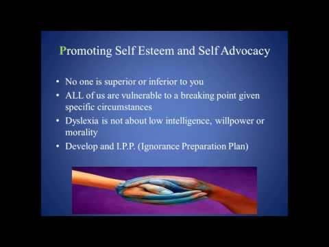 Promoting Self Esteem and Reducing Anxiety in Children Who Have Dyslexia